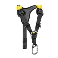Petzl TOP chest harness  yellow and black 2018