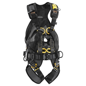 Petzl VOLT WIND full body harness with back protection with OXAN TRIACT LOCKING Carabiner CSA Size 1