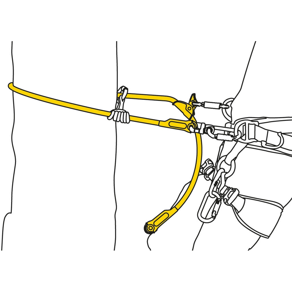 petzl microflip flipline lanyard for arborists 4m