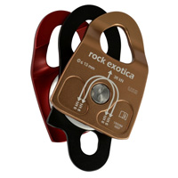 Rock Exotica Machined Rescue Pulley Double  P22D