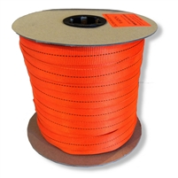 Tubular Webbing 1 inch x 100 yard Spool Orange