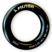 Fusion Tactical Black Aluminum Rappel Ring 45mm
