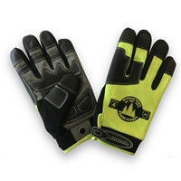 OPG High Visibility Gloves Class 4 Cut Protection / Anti Slip  / Anti Vibe Large