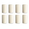 "OPG Bright White Shrink On Rope Ends 3/4"" to 1/4"" (16mm to 8 mm) 8 Pack"