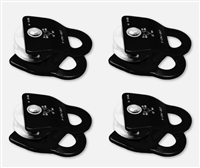 "OPG 1 1/2"" Single Pulley 1/2"" rope Black 4 Pack"