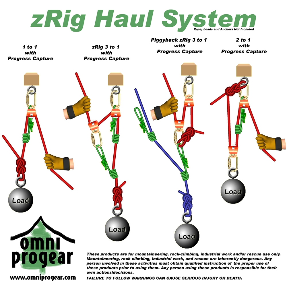 Zrig Rope Haul System 2 To 1  U0026 3 To1 Mechanical Advantage