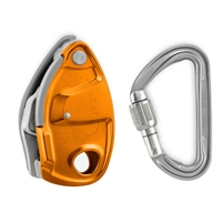 Petzl GRIGRI + assisted braking belay device with anti-panic feature