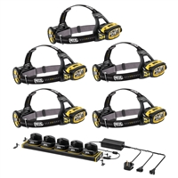 Petzl DUO Z1 Waterproof Headlamp 360 lumens 5 pack with charging station