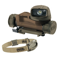 Petzl STRIX VL tactical headlamp desert