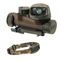 Petzl STRIX IR tactical headlamp  camo