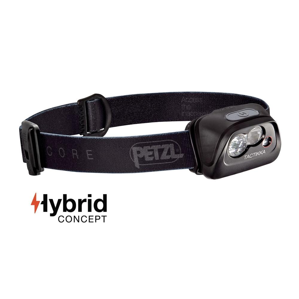 d20e5a337fb Petzl Tactikka Core Headlamp - Black Headlamp - 350 Lumens 2017