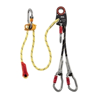 Petzl LEZARD Helivac lanyard with securing of the drop-off/recovery phases