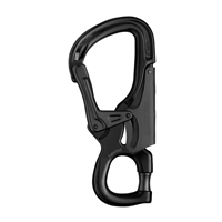 Petzl 2018 EASHOOK OPEN Gated Connector Black Carabiner