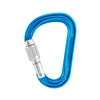 Petzl ATTACHE H-frame carabiner special edition supporting HERA Turquoise SCREW-LOCK