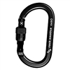 Rock Exotica rockO Screw-Lock Black Carabiner